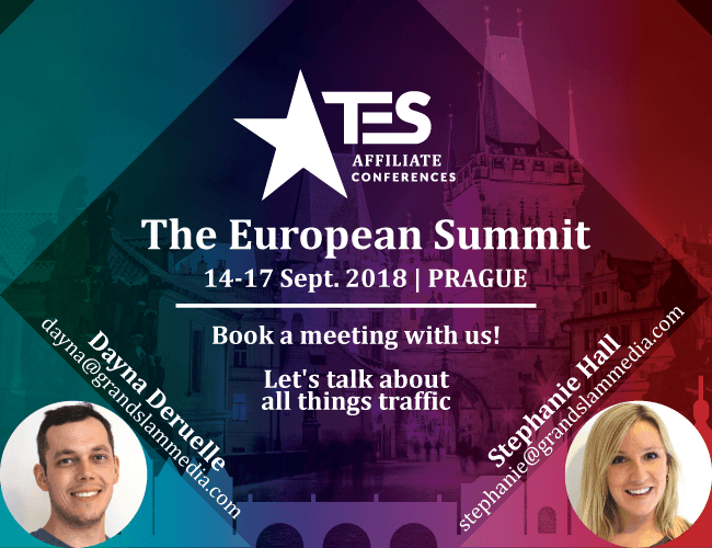 TES - Affiliate Conferences - The European Summit - 14-17 September 2018 | Prague (Book a Meeting with us!) Let's talk about all things traffic